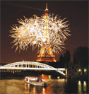 new year gala diner on boat paris